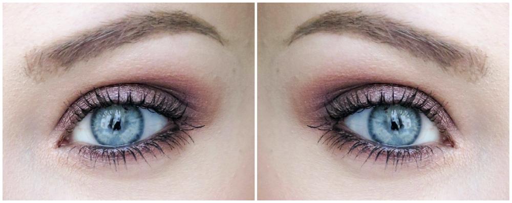 Lilla øyenskygge for blå øyne